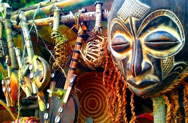Display Of African Mask