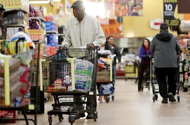 Seniors shop for groceries during special hours open to seniors and the disabled.