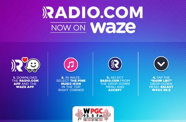 Step-by-step instructions on how to sync Waze with WPGC.