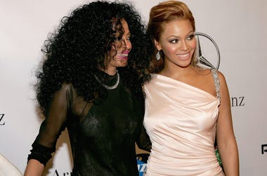 Beyonce and Diana Ross