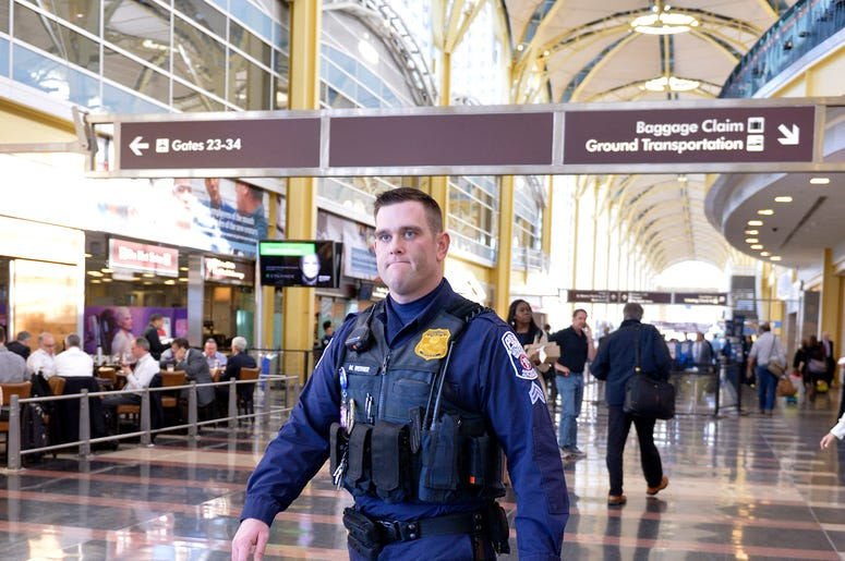 police officer reagan national airport