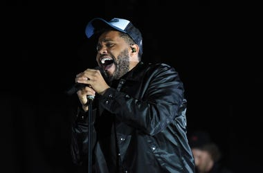 Canadian singer The Weeknd performs during the 2018 Morocco's Mawazine Festival
