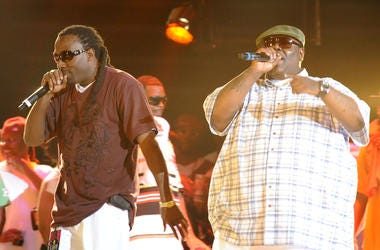 Rappers MJG and 8 Ball perform