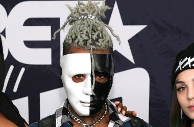 XXXTentacion (C) attends the BET Hip Hop Awards 2017 at The Fillmore Miami Beach at the Jackie Gleason Theater on October 6, 2017 in Miami Beach, Florida.