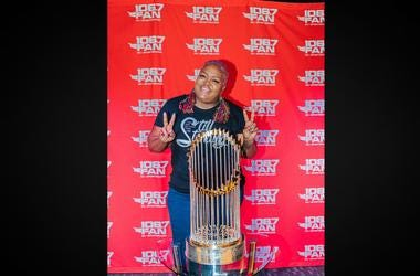 WPGC's Poet was feeling that trophy magic.