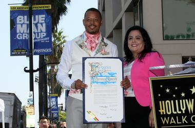 Terrence Howard got a star on the Walk of Fame.