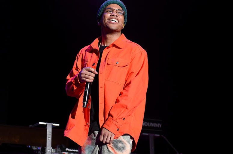 Anderson .Paak performs onstage during 'Mac Miller: A Celebration Of Life' Concert Benefiting The Launch Of The Mac Miller Circles Fund at The Greek Theatre on October 31, 2018 in Los Angeles, California