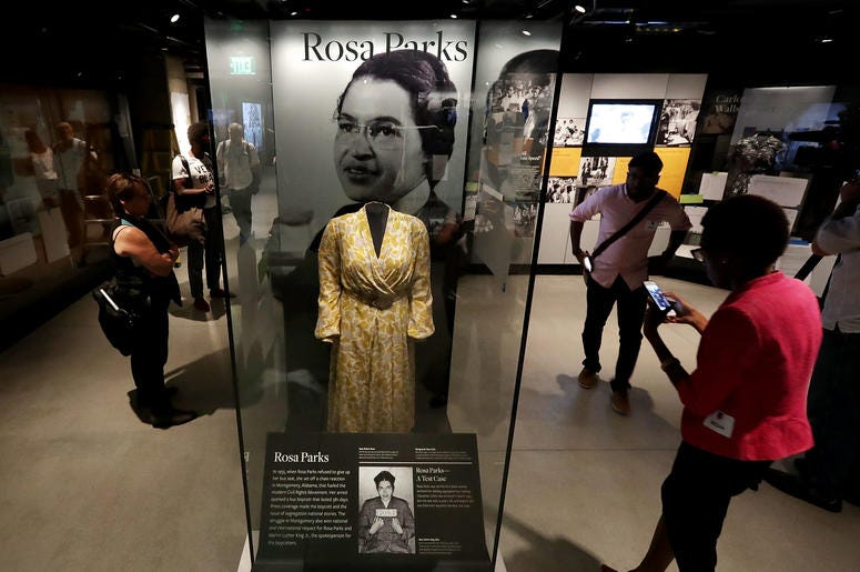Rosa Parks was honored in her hometown with a new statue.