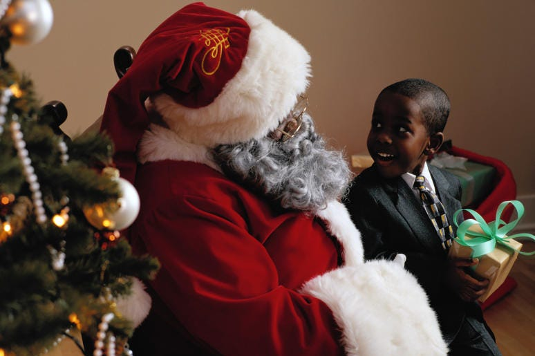 A mom created an app to help you locate Black Santas.