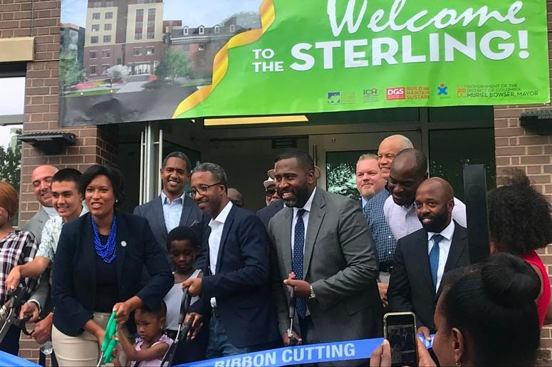 Mayor Muriel Bowser cut the ribbon on a brand new short-term family living facility.