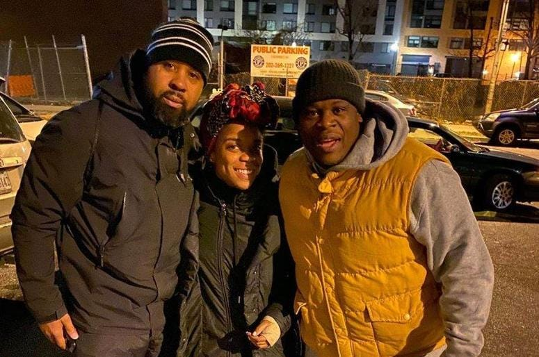 Community members spent a night on the pavement to support those who are homeless.