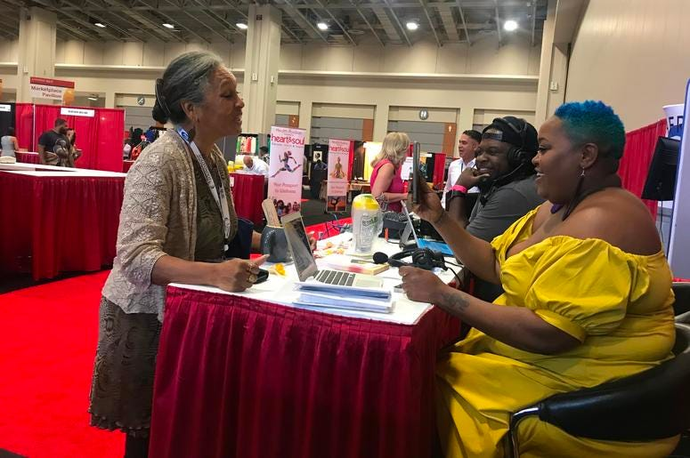 Poet broadcasts live from Congressional Black Caucus Foundation Conference.