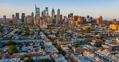 View of Philadelphia Skyline from South Philadelphia