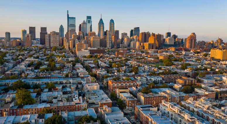 View of Philadelphia Skyline from South Philadelphia
