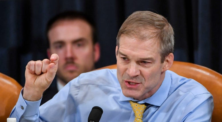 WASHINGTON, DC - DECEMBER 12: Representative Jim Jordan (R-OH) makes remarks during a House Judiciary Committee markup of Articles of Impeachment against President Donald Trump at the Longworth House Office Building on December 12, 2019 in Washington, DC.