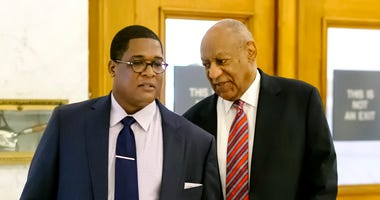 NORRISTOWN, PA - JUNE 7: Actor Bill Cosby (C) and aide Andrew Wyatt (L) arrive for Cosby's trial on sexual assault charges at the Montgomery County Courthouse on June 7, 2017 in Norristown, Pennsylvania. A former Temple University employee alleges that th