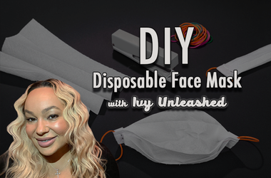 DIY Disposable Face Mask with Ivy Unleashed