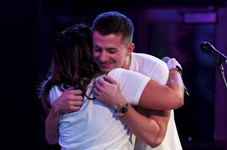 Charlie Puth Hugs Lucy Lopez