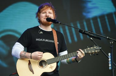 5/26/2018 - Ed Sheeran performs during the first day of BBC Radio 1's Biggest Weekend at Singleton Park, Swansea.