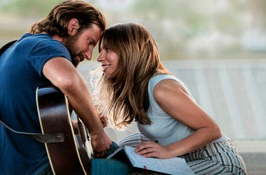 "This image released by Warner Bros. Pictures shows Bradley Cooper, left, and Lady Gaga in a scene from ""A Star is Born."" The film is nominated for an Oscar for best picture. The 91st Academy Awards will be held on Sunday. (Warner Bros. Pictures via AP, Fi"