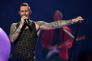 Adam Levine of Maroon 5 performs during the Pepsi Super Bowl LIII Halftime Show