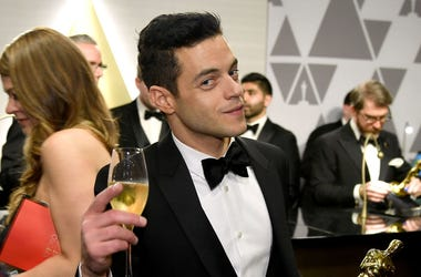 HOLLYWOOD, CALIFORNIA - FEBRUARY 24: (EDITORS NOTE: Retransmission with alternate crop.) Rami Malek attends the 91st Annual Academy Awards Governors Ball at Hollywood and Highland on February 24, 2019 in Hollywood, California. (Photo by Kevork Djansezian/