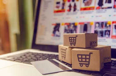 Shopping online concept - Shopping service on The online web....