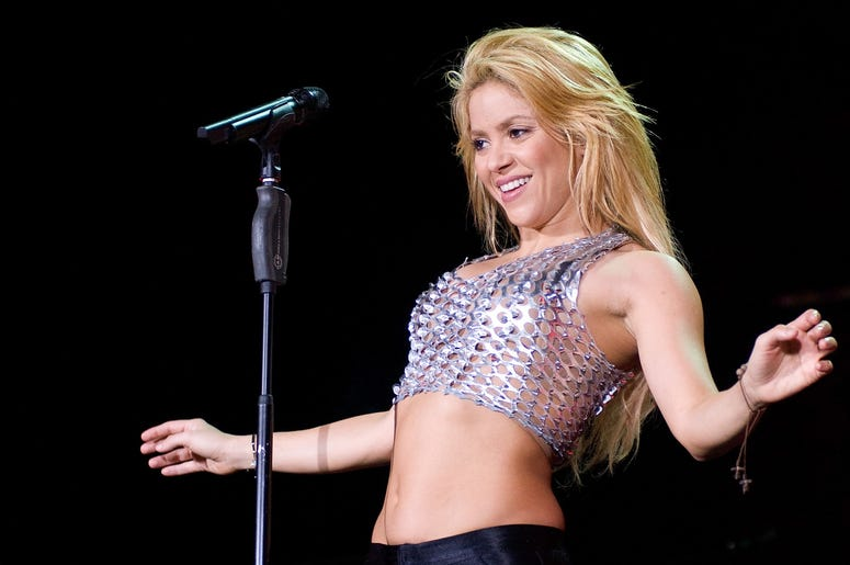 BARCELONA, SPAIN - MAY 29: Shakira performs in concert at the Lluis Campanys Olympic Stadium on May 29, 2011 in Barcelona, Spain. (Photo by Robert Marquardt/Getty Images)