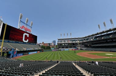 CLEVELAND, OHIO - JULY 06: Progressive Field during summer workouts on July 06, 2020 in Cleveland, Ohio. (Photo by Jason Miller/Getty Images)