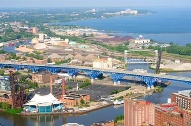 Cleveland west side aerial