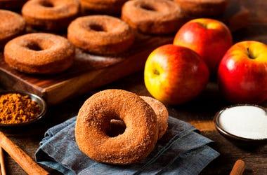 warm cider donuts