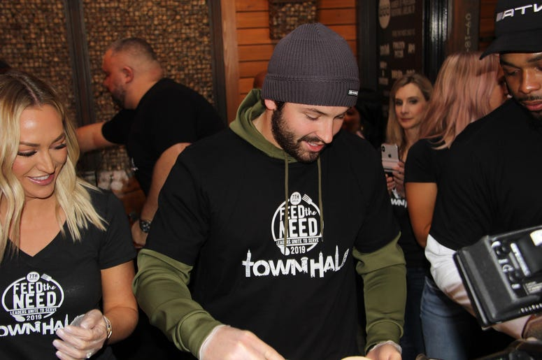 Baker and Emily Mayfield at Town Hall's Feed The Need event in 2019