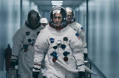 """Damien Chazelle and star RYAN GOSLING reteam for Universal Pictures' """"First Man,"""" the riveting story of NASA's mission to land a man on the moon, focusing on Neil Armstrong and the years 1961-1969."""