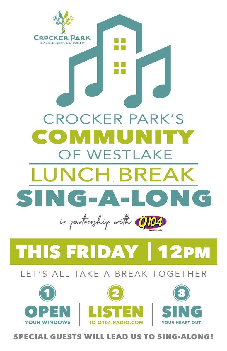 Crocker Park singalong Friday 4-3-2020