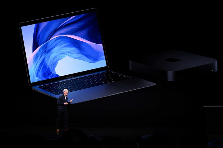 Oct. 30, 2018; New York, NY, USA; Apple CEO Tim Cook speaks during an Apple special event at the Howard Gilman Opera House at the Brooklyn Academy of Music in New York. Mandatory Credit: Robert Deutsch-USA TODAY