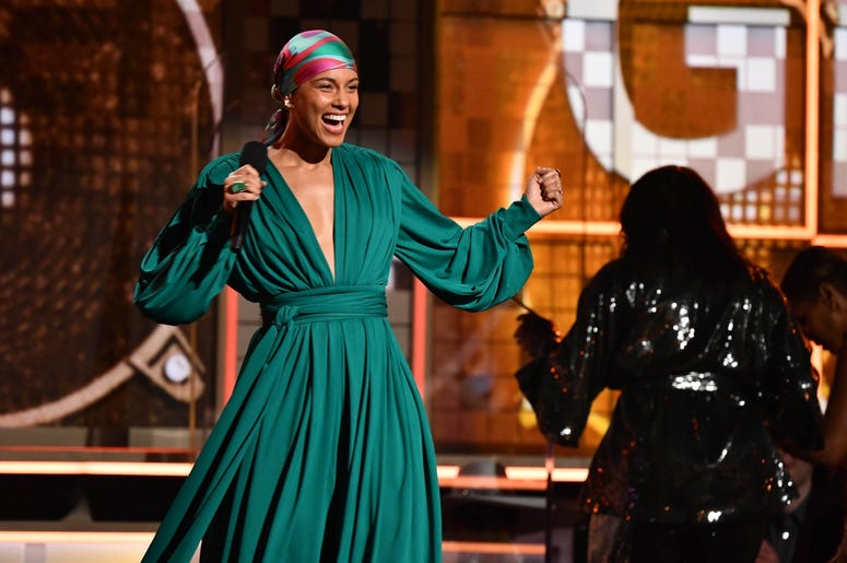 February 10, 2019; Los Angeles, CA, USA; Alicia Keys during the 61st Annual GRAMMY Awards on Feb. 10, 2019 at STAPLES Center in Los Angeles, Calif. Mandatory Credit: Robert Hanashiro-USA TODAY NETWORK