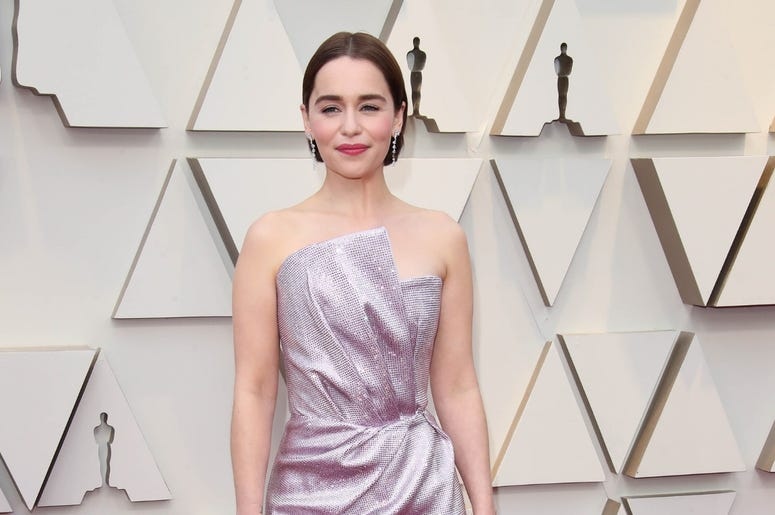 February 24, 2019; Los Angeles, CA, USA; Emilia Clarke arrives at the 91st Academy Awards at the Dolby Theatre. Mandatory Credit: Dan MacMedan-USA TODAY NETWORK