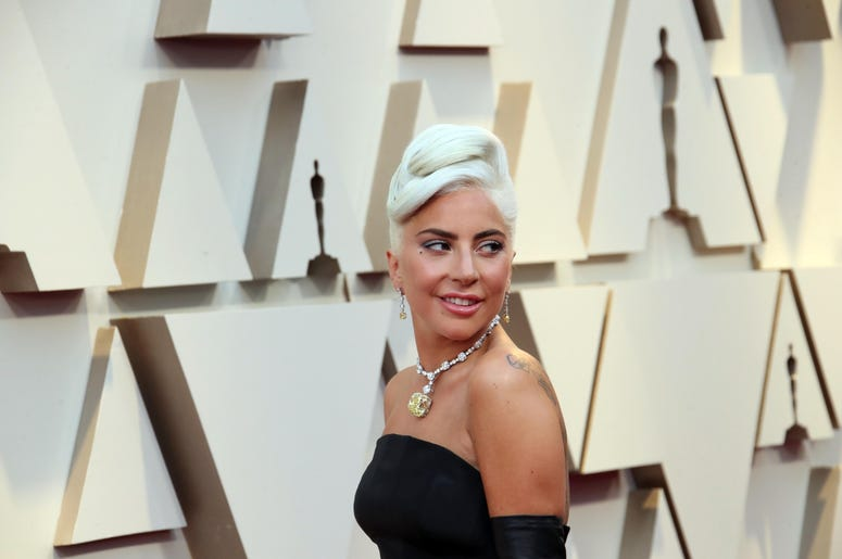 February 24, 2019; Los Angeles, CA, USA; Lady Gaga arrives at the 91st Academy Awards at the Dolby Theatre. Mandatory Credit: Dan MacMedan-USA TODAY NETWORK
