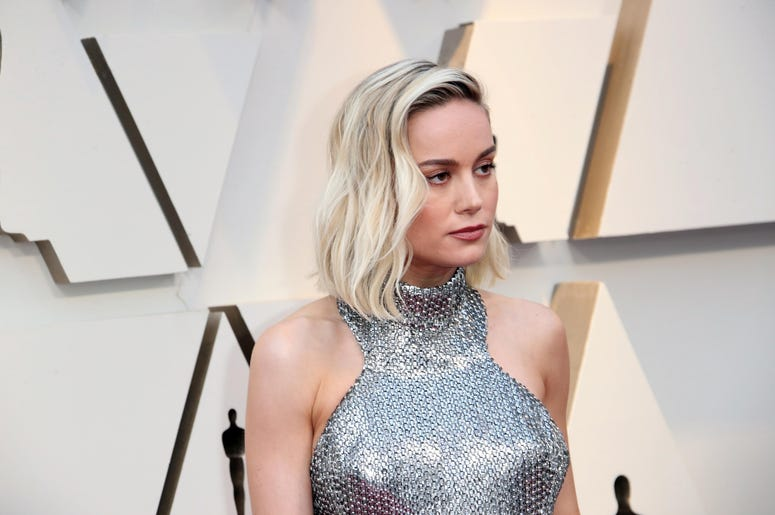 February 24, 2019; Los Angeles, CA, USA; Brie Larson arrives at the 91st Academy Awards at the Dolby Theatre. Mandatory Credit: Dan MacMedan-USA TODAY NETWORK