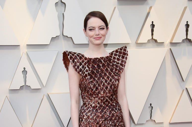 February 24, 2019; Los Angeles, CA, USA; Emma Stone arrives at the 91st Academy Awards at the Dolby Theatre. Mandatory Credit: Dan MacMedan-USA TODAY NETWORK