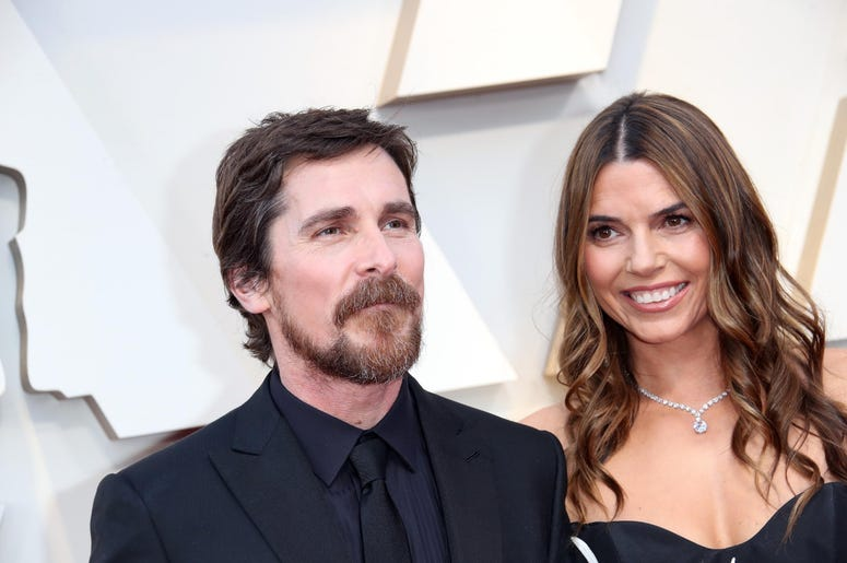 February 24, 2019; Los Angeles, CA, USA; Christian Bale, left and Sibi Blazic arrive at the 91st Academy Awards at the Dolby Theatre. Mandatory Credit: Dan MacMedan-USA TODAY NETWORK