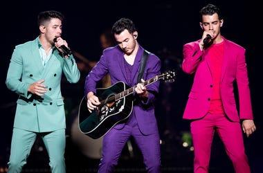The Jonas Brothers perform at Bridgestone Arena in Nashville, Tenn., Tuesday, Sept. 10, 2019. Jonas 091019 018