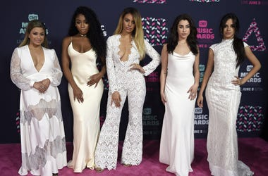 June 8, 2016; Nashville, TN, USA; Fifth Harmony on the red carpet during the CMT Music Awards at Bridgestone Arena. Mandatory Credit: George Walker IV/The Tennessean via USA TODAY NETWORK