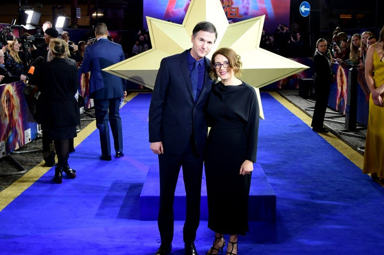 2/27/2019 - Director and writers Ryan Fleck (left) and Anna Boden attending the Captain Marvel European Premiere held at the Curzon Mayfair, London. Picture date: Wednesday February 27, 2019. Photo credit should read: Ian West/PA Wire (Photo by PA Images/