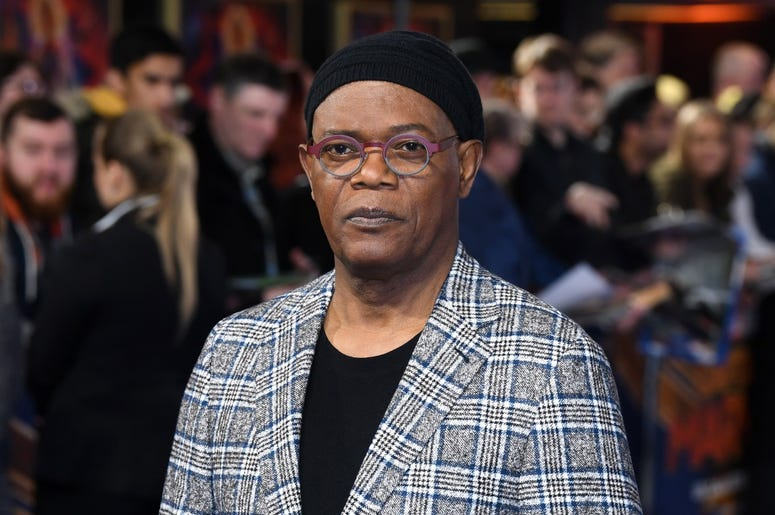 2/27/2019 - Samuel L Jackson attending the UK Gala Premiere of Captain Marvel at Curzon Mayfair, London. Picture Credit Should Read: Doug Peters/EMPICS (Photo by PA Images/Sipa USA) *** US Rights Only ***