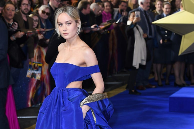 2/27/2019 - Brie Larson attending the UK Gala Premiere of Captain Marvel at Curzon Mayfair, London. Picture Credit Should Read: Doug Peters/EMPICS (Photo by PA Images/Sipa USA) *** US Rights Only ***