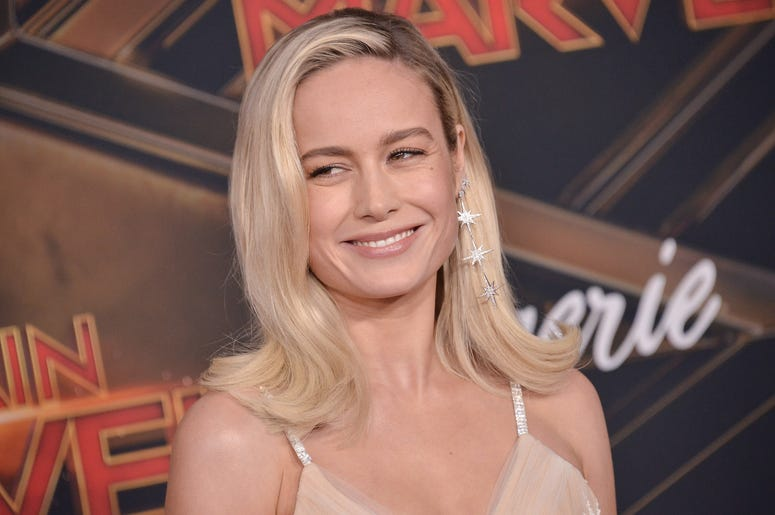 """Brie Larson arrives at the Marvel Studios """"Captain Marvel"""" Los Angeles Premiere held at the El Capitan Theatre in Hollywood, CA on Monday, March 4, 2019. (Photo By Sthanlee B. Mirador/Sipa USA)"""