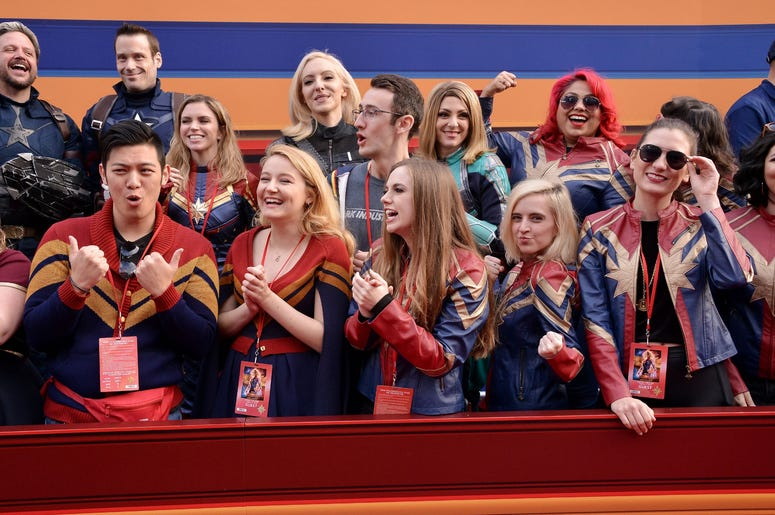 """Atmosphere at the Marvel Studios """"Captain Marvel"""" Los Angeles Premiere held at the El Capitan Theatre in Hollywood, CA on Monday, March 4, 2019. (Photo By Sthanlee B. Mirador/Sipa USA)"""