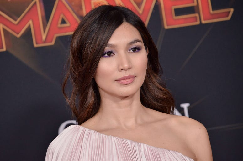 """Gemma Chan arrives at the Marvel Studios """"Captain Marvel"""" Los Angeles Premiere held at the El Capitan Theatre in Hollywood, CA on Monday, March 4, 2019. (Photo By Sthanlee B. Mirador/Sipa USA)"""