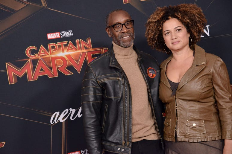 """(L-R) Don Cheadle and Bridgid Coulter at the Marvel Studios """"Captain Marvel"""" Los Angeles Premiere held at the El Capitan Theatre in Hollywood, CA on Monday, March 4, 2019. (Photo By Sthanlee B. Mirador/Sipa USA)"""